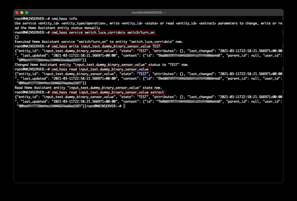 Home Assistant API - Commands