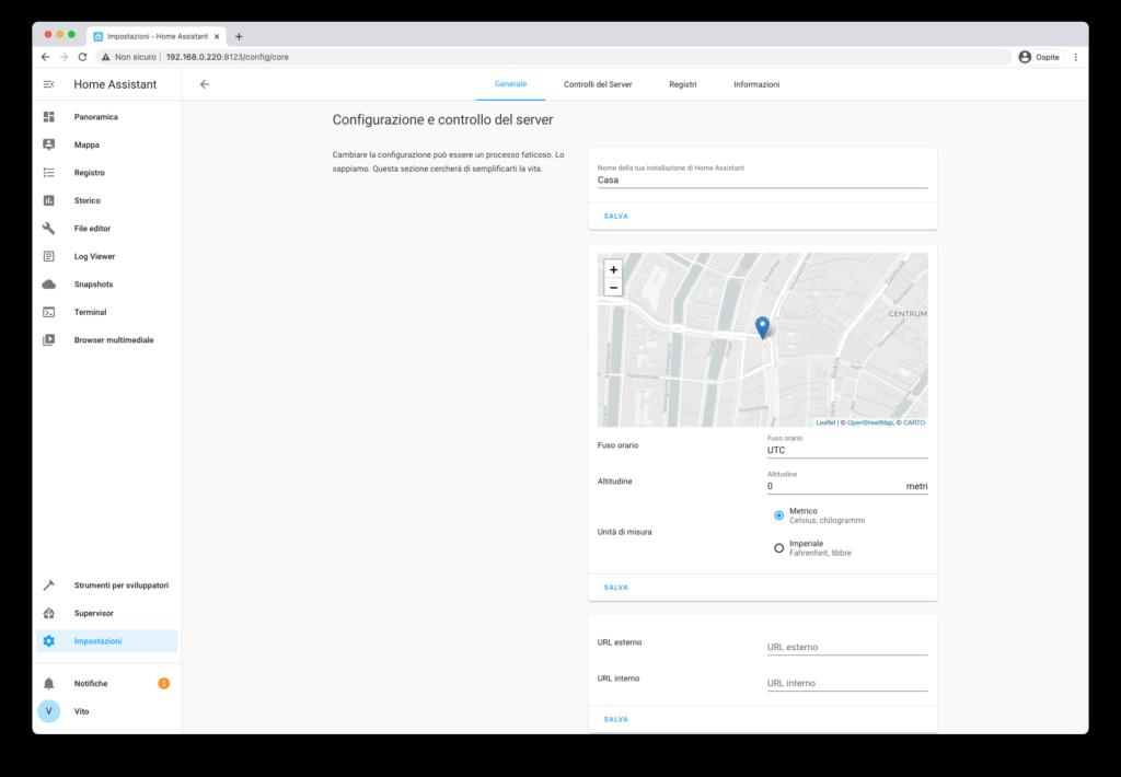 Home Assistant Fondamenta - Configurazione Grafica