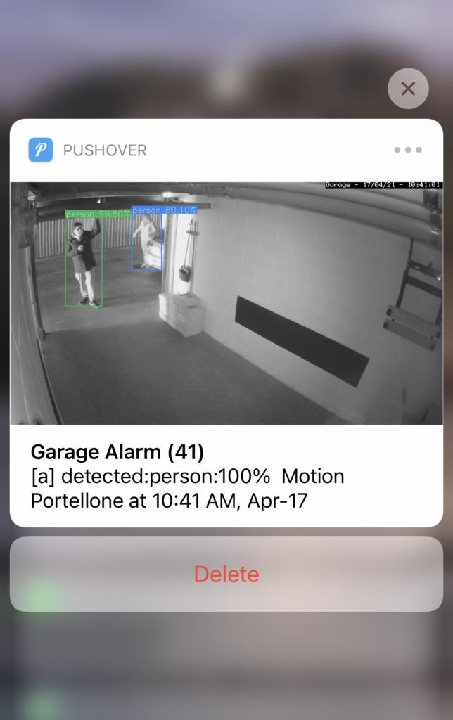 ZoneMinder Videosorveglianza - EventServer Notifica