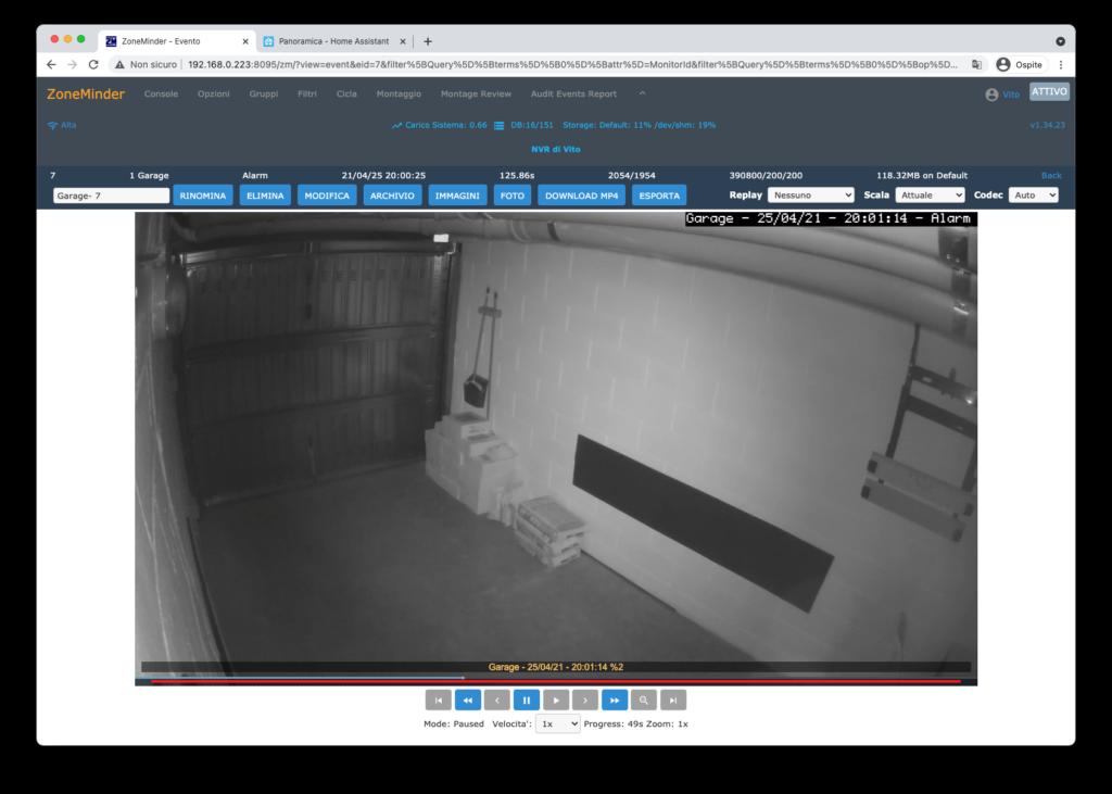 ZoneMinder Videosorveglianza - Home Assistant 3